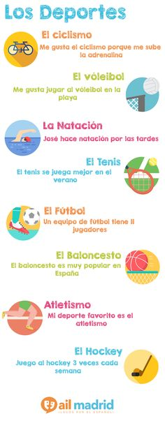 ¿Qué deportes te gustan hacer? -- Which sports do you like to do?