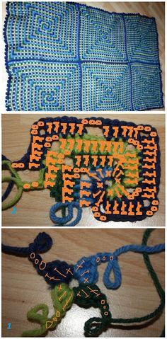 "Crochet ""Spiral Granny"" - Chart ❥ 4U // hf"