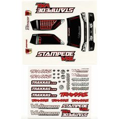 Traxxas Decal Sheets Stampede VXL