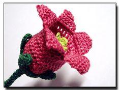 CROCHET PATTERNS (Crochet Flower Pattern #127 Canterbury Bells) -Crochet & Knit Design Heaven
