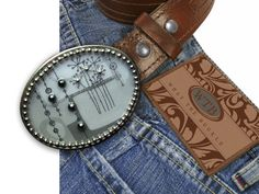 Silver Mod Belt Buckle by WhatTheBuckle on Etsy, $35.00 - She makes the most awesome belt buckles - check her out!!!!