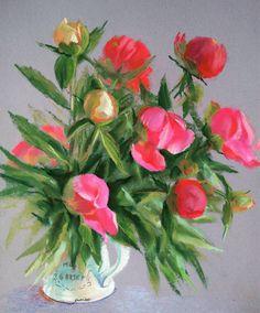 Пионы #ярисую #сухаяпастель #рисуюцветы #пионы #softpastel #pastelpainting #unisonpastels #flowerspainting