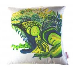 Silk cushion cover based on Chloe's original hand-cut paper artworks. $85