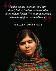 Quotes for Fun QUOTATION - Image : As the quote says - Description 10 Motivating Quotes to Celebrate International Women's Day via Sharing is International Womens Day Poster, Happy International Women's Day, Stay Motivated Quotes, How To Stay Motivated, Happy Womens Day Quotes, Famous Women Quotes, Malala Yousafzai Quotes, Refugees, Celebration Quotes