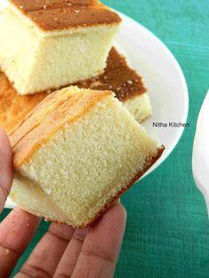 Nitha Kitchen: Hot Milk Cake Recipe | Step by step tutorial to make plain Vanilla sponge cake using hot milk