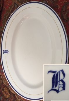 Mayer China - Platter with Old English letter B monogram. Backstamped Mayer China 18