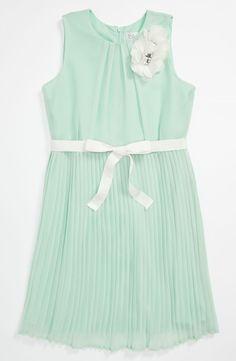 BLUSH by Us Angels Crinkle Skirt Dress (Big Girls) | Nordstrom