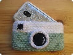 "Crochet ""Camera"" Phone Case"