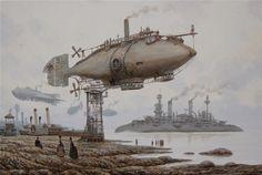 Postal dragon by Vadim Voitekhovitch ( *voitv on deviantART ) voitv.deviantart.com/ | Wonderful steampunk art!