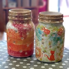 Stencils, sponges, fairy dust underglaze, crystal glazes all combined to create these jar lanterns by some customers at Slap n Dash Ceramic Lantern, Paint Your Own Pottery, Jar Lanterns, Fairy Dust, Hand Painted Ceramics, Stencils, Mason Jars, Crystals, Create