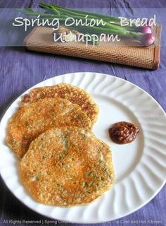 Spring Onion-Bread Uthappam | Instant Dosa Recipes