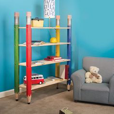 Pencil-Post Bookshelf Woodworking Plan by Woodcraft Magazine
