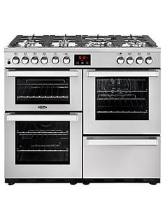 The Belling Cookcentre Range Cooker with ceramic hob has been designed to produce professional cooking results from the comfort of your own home. Made from quality materials in a stylish design, this range cooker features two electric ovens, a gri Electric Range Cookers, Dual Fuel Range Cookers, Electric Oven, Gas Cookers, Built In Storage, Food Preparation, Kitchen Appliances
