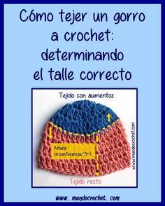 Como tejer un gorro a crochet o ganchillo medidas