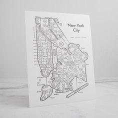 NYC Letterpress Print
