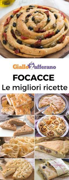 Genovese, barese, ripiena, arrotolata, farcita, al formaggio: quanti modi ci sono per fare la focaccia? Soffici e appetitose, le focacce sono una morbida tentazione alla quale non si può resistere! #focaccia #focacciagenovese #focacciabarese #lievitati #italianfood #focacciabread #flatbread #giallozafferano [Easy focaccia bread recipe] Focaccia Pizza, Focaccia Bread Recipe, Flatbread Pizza, No Salt Recipes, Other Recipes, Bread Recipes, Italian Fast Food, Italian Recipes, Italian Bakery