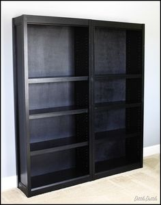 Making Walmart bookshelves look like Crate & Barrel shelves - definitely doing this!!