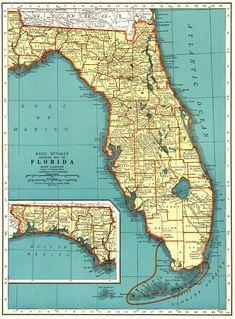 map2.gif (800×735) Map of florida, Panama city panama