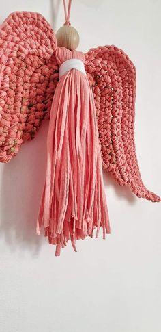 @DLThandmade #madewithlove #homedecor- crochet angel wings- size 30 cm - cotton yarn Angel Wings, Tassel Necklace, Crochet Patterns, Dreadlocks, Hair Styles, Cotton, Handmade, Beauty, Home Decor