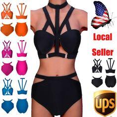 Sexy Women's Bandage Bikini Set Push-up Padded Bathing Suit Swimwear Plus Size #Brandnew #Bikini