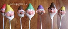 The Seven Dwarfs from Snow White. 24 Amazing Cake Pops Inspired by Disney Characters