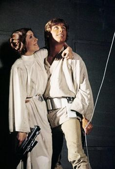 Carrie Fisher and Mark Hamill.