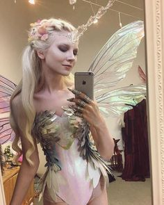Unicorn-fairy cosplay by Maria Amanda Fairy Costume Diy, Fairy Cosplay, Fairy Halloween Costumes, Fantasy Costumes, Diy Costumes, Halloween Makeup, Woodland Fairy Costume, Elf Costume, Water Fairy Costume
