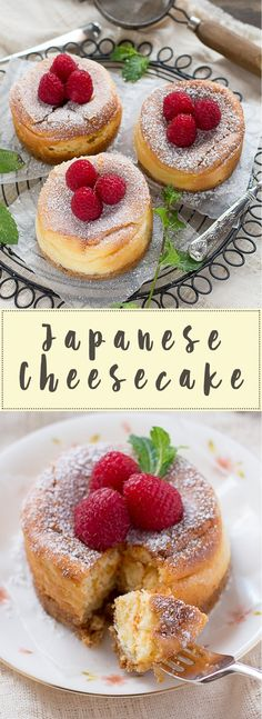 Rich & Creamy Japanese Cheesecakes- Easy and delicious Individual Desserts, Asian Desserts, Just Desserts, Delicious Desserts, Dessert Recipes, Japanese Desserts, Japanese Recipes, Brunch Recipes, Japanese Cheesecake Recipes