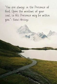 He is always there.