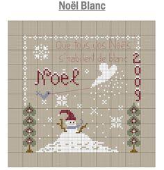 Noël blanc -Jura Point de croix (grille gratuite)                                                                                                                                                                                 Plus