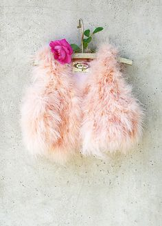 Look at this Joyfolie Pink Lola Feather Vest - Toddler & Girls on today! Little Girl Dresses, Little Girls, Toddler Fashion, Kids Fashion, Baby Fashionista, Children's Boutique, Girls Accessories, Little Princess, Blush Pink