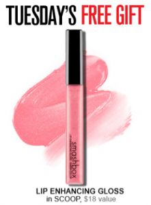 I just want to remind you all that it's Tuesday which means you can score yet another fantastic deal on Smashbox cosmetics… Smashbox Cosmetics offers up a FREE gift with ANY order from 9am-2pm PST every Tuesday and Thursday! Today (until 2pm PT/5pm ET) they are offering up a FREE Lip Enhancing Gloss in Scoop [...]