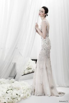 annasul y 2015 bridal sleeveless heavily embellished sheath wedding dress ay2984e -- Annasul Y. 2015 Wedding Dresses