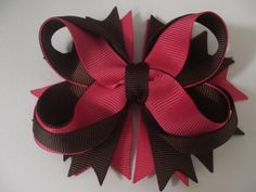 How to make twisted bowtique bow 16mm grosgrain