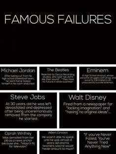 """Find inspiration from these """"famous failures."""""""