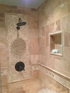 To reveal the quality of each of your favorite bathroom shower tile designs. This awesome bathroom shower tile designs contain 13 fantastic design. Bathroom Tile Designs, Bathroom Floor Tiles, Shower Designs, Bathroom Wall, Bathroom Ideas, Bathroom Showers, Bathroom Remodeling, Brown Bathroom, Tile Showers