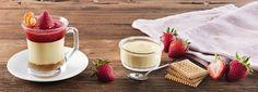 Bicchierino di Crema Dolce al Mascarpone con Coulis di fragole