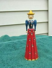 SWEDEN DENMARK NORWAY  WOOD WOODEN NAPKIN LADY HOLDER