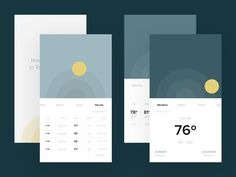 Daily UI: #037 Weather by Andy Weir