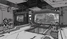 Back in 2012, we featured the work Kory Hubbell—a concept artist at 343—did for Halo 4. With Halo 5 now out, we're circling around and checking out his contributions to the latest game in the series.
