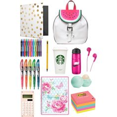 My school essentials by sophie-redmond-1 on Polyvore featuring polyvore, beauty, Eos, Sophia Webster, GreenGate and NIKE