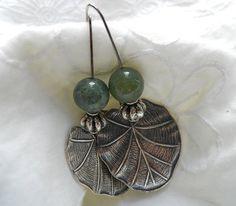 Metal n Stone Earrings by JoJosgems on Etsy, $16.00