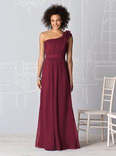 I love this dress for a bridesmaids dress, but I'm thinking shorter dresses.. not sure though, I really like this! #MaroonWeddingIdeas