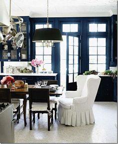 Fabulous Dine in Kitchen Windsor Smith Design http://cotedetexas.blogspot.com/2012/04/cote-de-texas-readers-houses-series.html?utm_source=feedburner_medium=email_campaign=Feed%3A+CoteDeTexas+%28COTE+DE+TEXAS%29