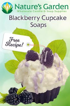 Free Blackberry Cupcake Soap Recipe by Natures Garden