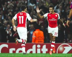 Alexis: Thanks for the assist MÖ! CL game v GAL 4-1