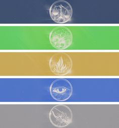 Divergent- Candor the Honest, Amity the Peaceful, Dauntless the Brave, Erudite the Intelligent, and Abnegation the Selfless