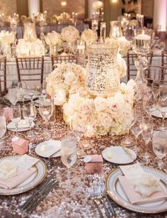 Photographer: KLK Photography; Wedding reception centerpiece idea;