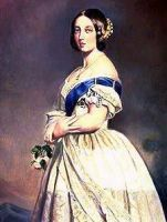 Queen Victoria as a young woman. She came to throne at age 18. The only daughter of one of George the Third's sons, she became Queen after her father died in 1837. She ruled until her death in 1901.
