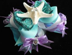 Ariel The Little Mermaid Hair Bow. $11.50, via Etsy.